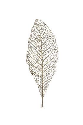 زينة بتصميم ورقة شجر مفتوحة بساق بغليتر لشجرة الكريسماس
