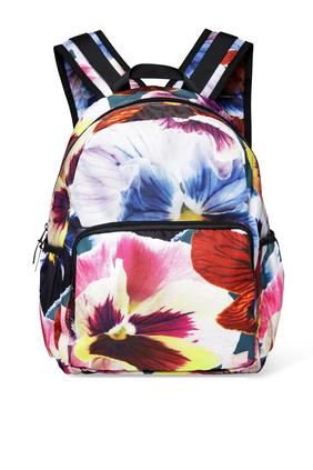 حقيبة ظهر بنقشة زهور