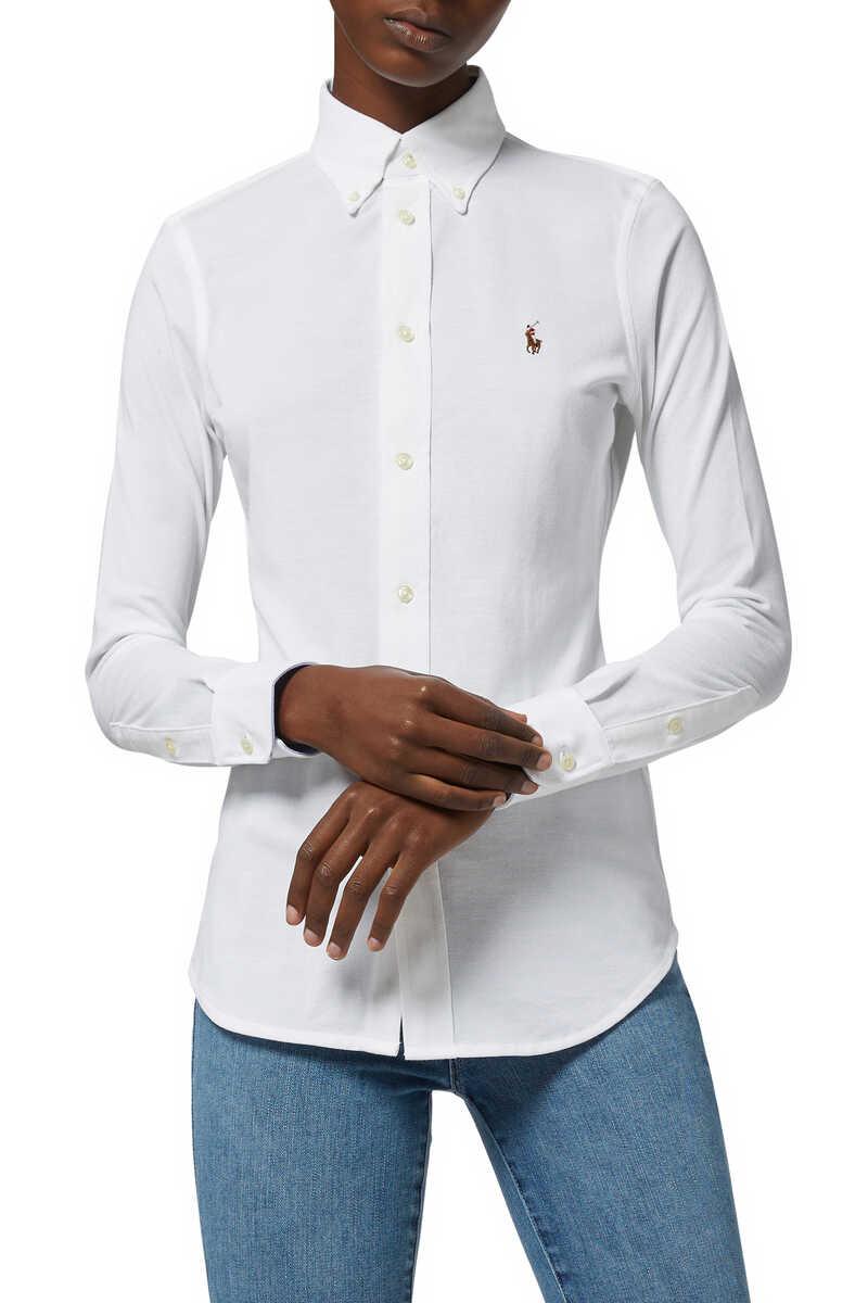 تسوق قميص أكسفورد بقصة ضيقة All Products On Site بلومينغديلز الكويت