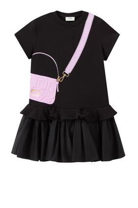 فستان بطبعة حقيبة مستطيلة