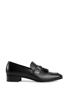 حذاء سهل الارتداء جلد أسود