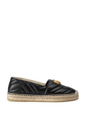 حذاء إسبادريل جلد بشعار حرفي G