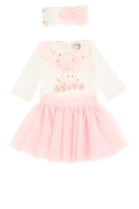 فستان بتنورة تول وطبعة أرنب