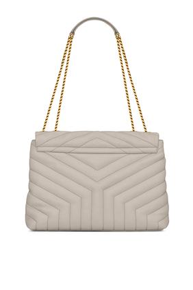 حقيبة لولو متوسطة جلد مبطن بتصميم Y