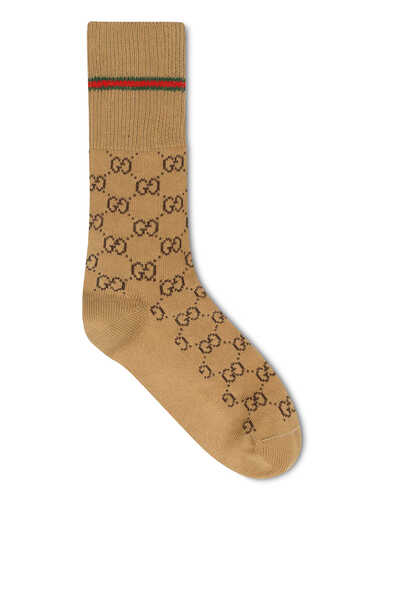 جوارب قطن بشعار GG