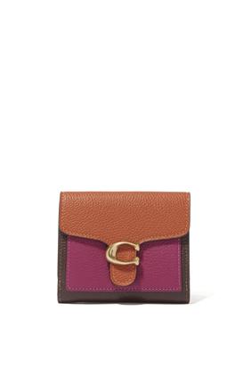 محفظة تابي جلد صغيرة مقسمة بألوان
