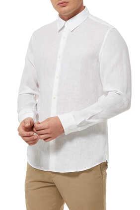 قميص إيرفينج كتان بأكمام طويلة