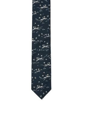 ربطة عنق حرير مزينة بنقشة