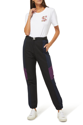 Grosgrain Pants:BLACK/NAVY:1
