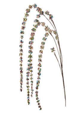 زينة بتصميم نبات القطيفة بساق لشجرة الكريسماس