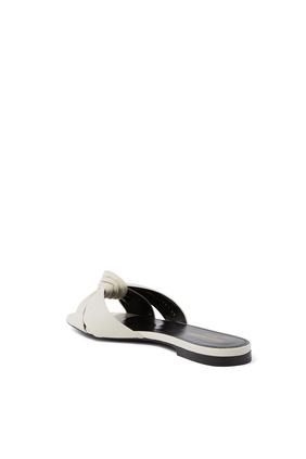 حذاء بيانكا مفتوح من الخلف بكعب مسطح