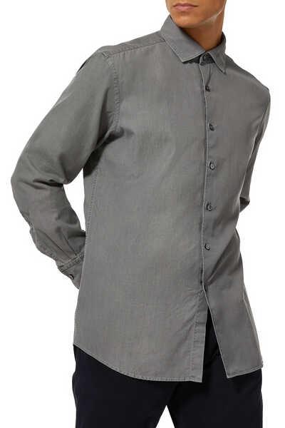 قميص دينم بأكمام طويلة
