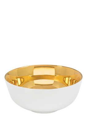 وعاء عميق ذهبي اللون