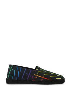 حذاء إسبادريل قنب بنقشة شعار الماركة