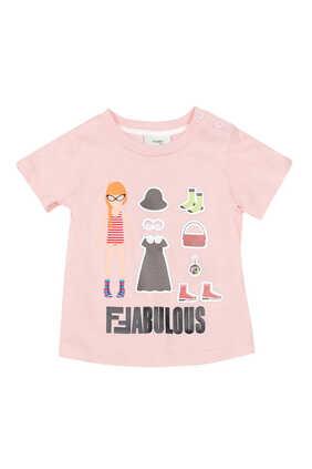 تي شيرت بطبعة كلمة Fabulous