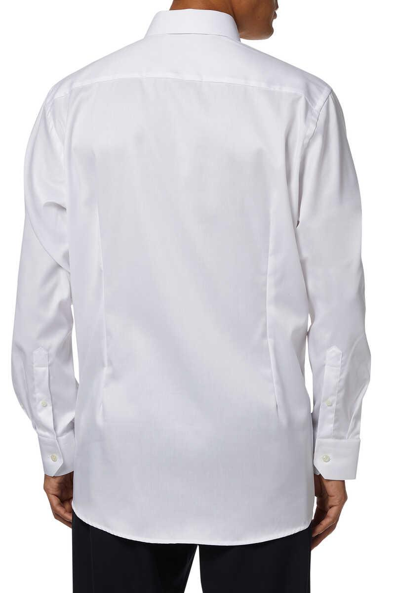 قميص بوبلين بأكمام طويلة image number 3