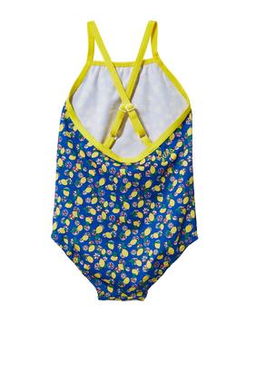 لباس سباحة قطعة واحدة بنقشة ليمون