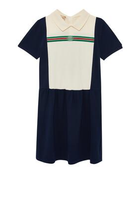 فستان قطن مطاطي