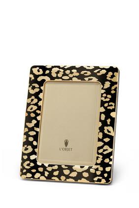 إطار بنقشة جلد الفهد للصور مقاس 4×6