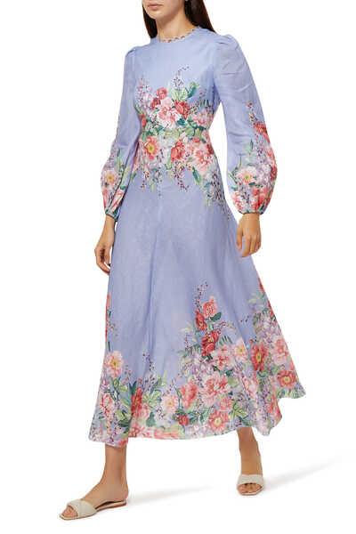 فستان بيليتيود بنقشة زهور