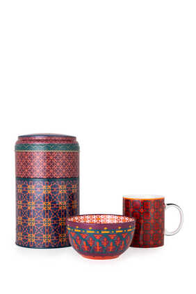 IDO Mug/Bowl Tin Box Vagabonde Red:Red :One Size