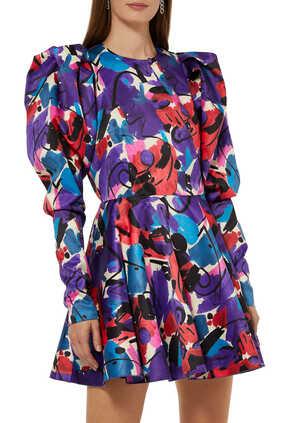 فستان بولين بنقشة
