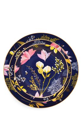 حامل كيك بنقشة زهور الأوركيد 3 طبقات