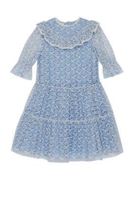 فستان تول مطرز