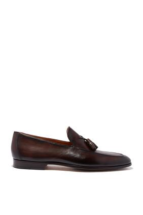 حذاء سهل الارتداء جلد لين بشرابات