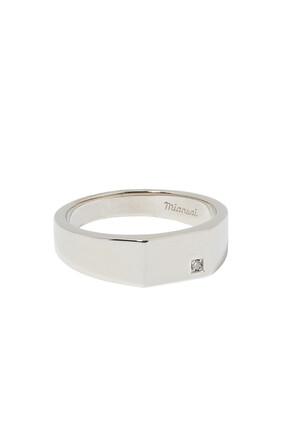 خاتم سيجنت بشكل هندسي مرصع بالماس