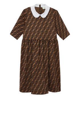 فستان بطبعة شعار FF