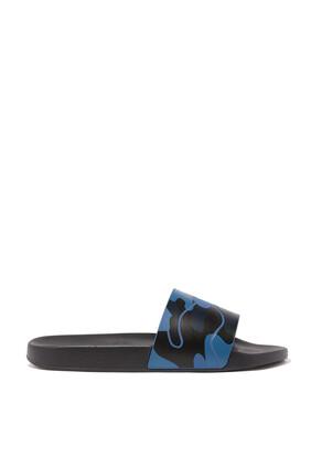 حذاء مفتوح فالنتينو غارافاني مطاط بنقشة مموهة