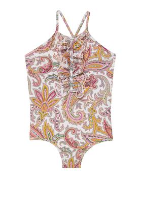 لباس سباحة تيدي بكشكش ورباط حول الرقبة