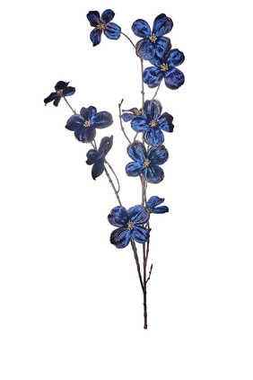 زينة بتصميم زهرة القرانيا بساق لشجرة الكريسماس