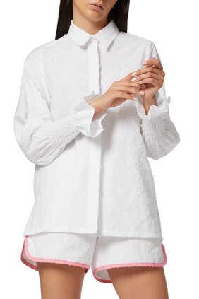 قميص مايا بأكمام كشكش
