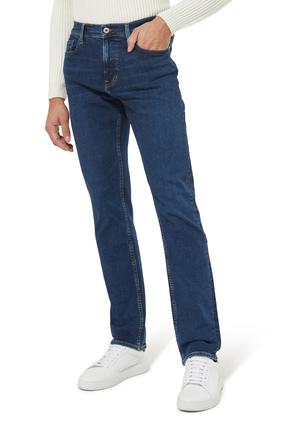 بنطال جينز دينم بقصة ساقين مستقيمتين