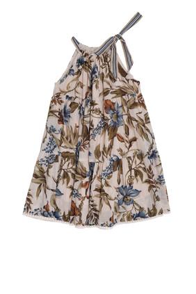 Aliane Halter Tiered Dress:BEIGE:4Y
