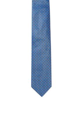 ربطة عنق حرير بنقشة أشكال هندسية