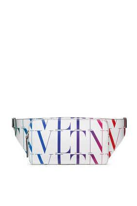 حقيبة خصر فالنتينو غارافاني جلد بنقشة تايمز بشعار VLTN