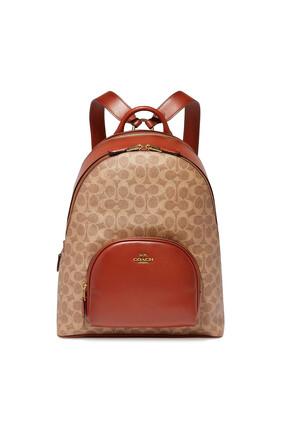 حقيبة ظهر كاري قنب مزين بشعار الماركة