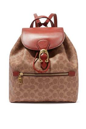 حقيبة ظهر إيفي قنب مزين بشعار الماركة