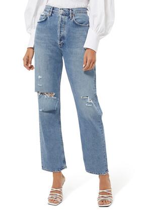 بنطال جينز ناينتيز بخصر ضيق