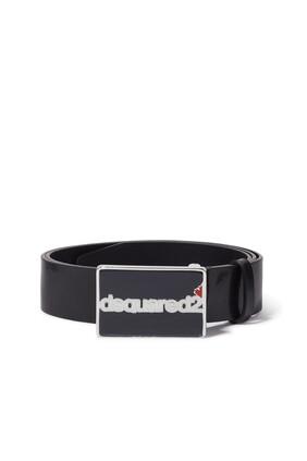حزام جلد بشعار الماركة