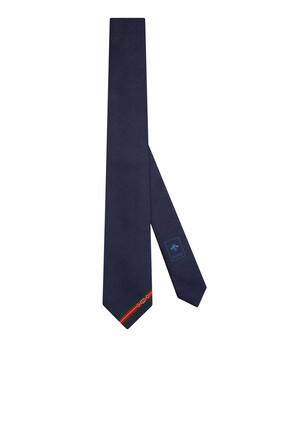 ربطة عنق بنقشة جاكار بحرفي GG ولجام حصان