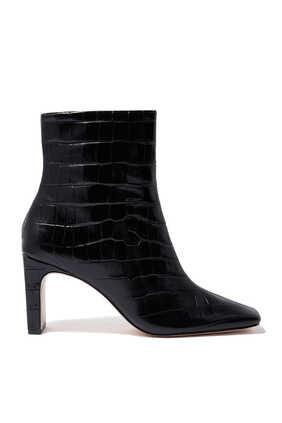 حذاء بوت ماريون بنقشة جلد التمساح