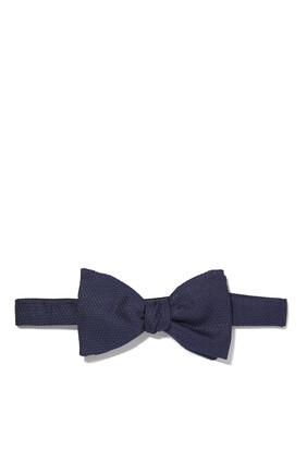 ربطة عنق فراشة حرير بارزة الملمس
