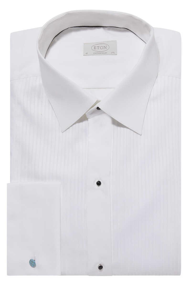 قميص بليسيه بقصة عصرية image number 1