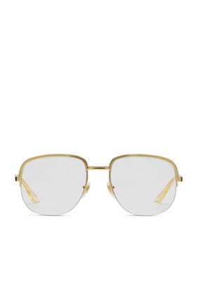 نظارة شمسية بإطار معدني مربع