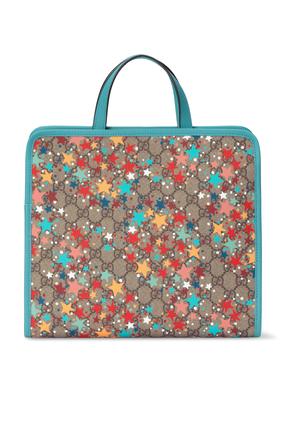 حقيبة يد بنقشة نجوم وحرفي GG