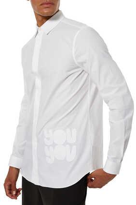 قميص بوبلين بطبعة You You